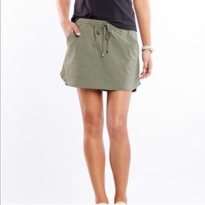 Lucy Destination Anywhere Green Striped Skirt